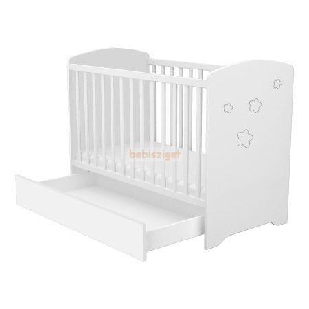Timba Félix 60x120-as Zárt végű babaágy ágyneműtartóval Fehér