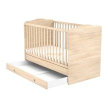 Timba Átalakítható 70x140-as Zárt végű baba- és gyermekágy ágyneműtartóval Borostyán