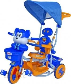 Zenélő Vidám Tricikli Mókusos Kék