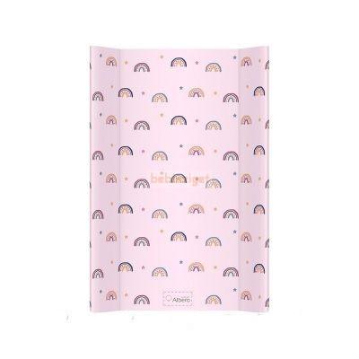 AlberoMio Puha Ékes 50x70 Pelenkázólap - Rózsaszín Szivárvány