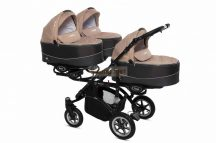 Baby Active Trippy Hármasiker babakocsi Premium Beige Tömör gondozásmentes kerekekkel
