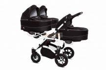Baby Active Trippy Hármasiker babakocsi Premium Black White Tömör gondozásmentes kerekekkel