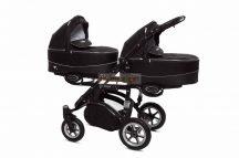 Baby Active Twinni Ikerbabakocsi Premium Black Tömör gondozásmentes kerekekkel