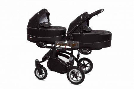 Baby Active Twinni Ikerbabakocsi Premium Black Tömör gondozásmentes kerékkel