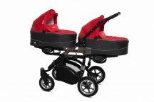 Baby Active Twinni Ikerbabakocsi Premium Rosso Tömör gondozásmentes kerekekkel