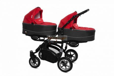 Baby Active Twinni Ikerbabakocsi Premium Rosso Tömör gondozásmentes kerékkel