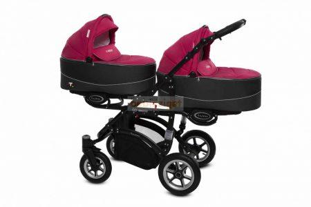 Baby Active Twinni Ikerbabakocsi Premium Amarant