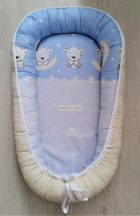 Babafészek Holdas Maci Kék