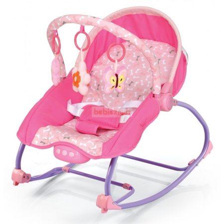 Baby Mix Rezgő-Zenélő Hintázós Pihenőszék - Pink