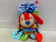 BabyMix Csiptethető Felhúzható-Zenélő Plüss RedBunny