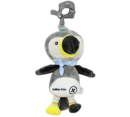 BabyMix Csiptethető Felhúzható-Zenélő Plüss Pingvin