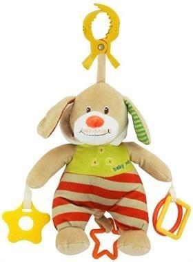 BabyMix Csiptethető Felhúzható-Zenélő Plüss Kutyus