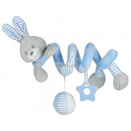 BabyMix Interaktív Plüss Spirál Nyuszi Kék