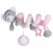 BabyMix Interaktív Plüss Spirál Maci Rózsa