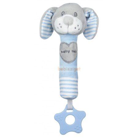 BabyMix Sípoló Plüss Játék Babáknak Kutya Kék