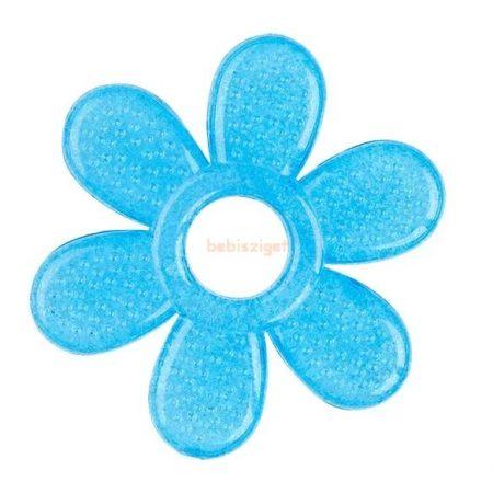 BabyOno Hűthető Szilikon GélRágóka Virág Kék