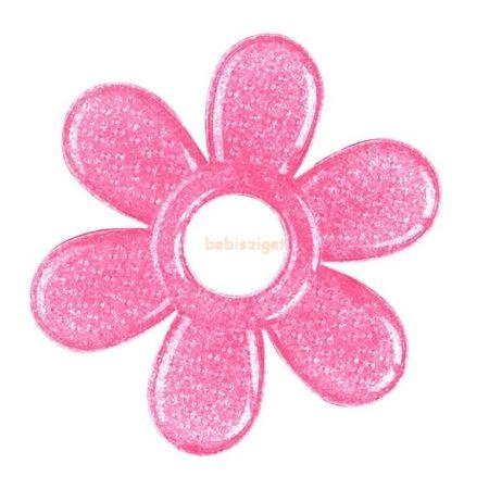 BabyOno Hűthető Szilikon GélRágóka Virág Rózsa