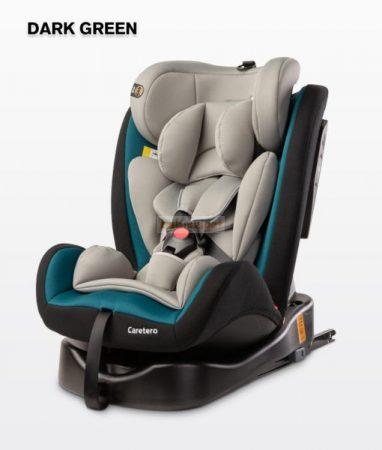 Caretero Mokki 0-36kg ISOFIX - 360°-ban forgatható biztonsági gyerekülés - Dark Green
