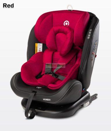 Caretero Mundo 0-36kg 360°-ban forgatható biztonsági gyermekülés - Red