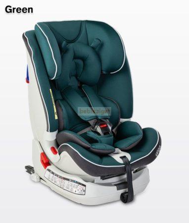Caretero Yoga 0-36kg ISOFIX Biztonsági Gyermekülés - Green