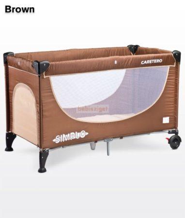 Caretero Simplo Brown 60x120 utazóágy