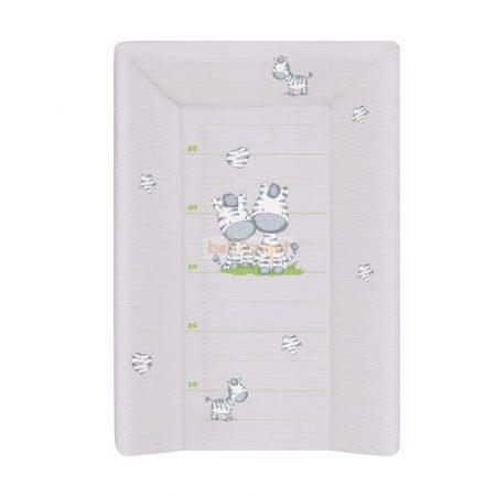 Ceba Baby Puha Három Ékes Pelenkázólap 50x70 - Szürke Zebra