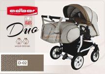 Adbor Duo Stars Ikerbabakocsi Szett D-02 adapterrel és 2db autós hordozóval