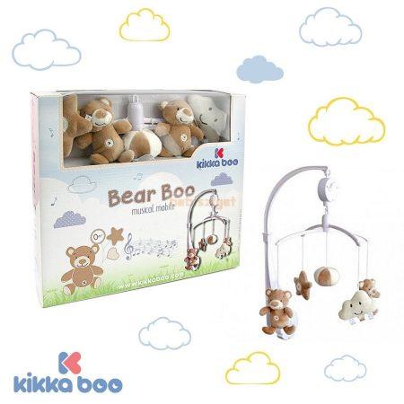 KikkaBoo Plüss Zenélő Forgó - Bear Boo