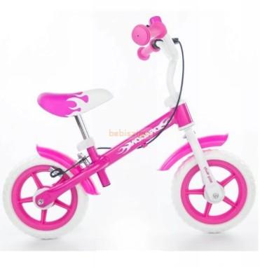MillyMally Dragon Futóbicikli Fékkel Pink