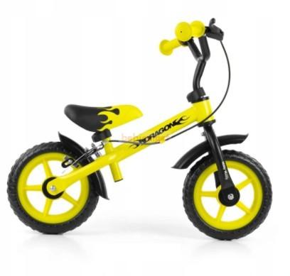 MillyMally Dragon Futóbicikli Fékkel Yellow