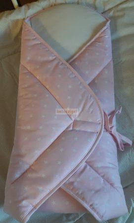 Kókuszpólya - Rózsaszín - fehér csillagos