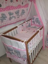 Szeko Stúdió - Fredy Teddy rózsaszín 3 részes gyermekágynemű garnitúra