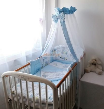 Szeko Stúdió - Brummogi kék - 3 részes gyermekágynemű garnitúra