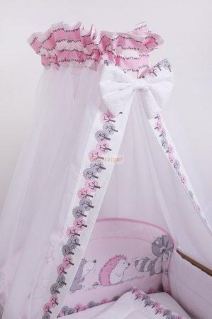Szeko Stúdio - Albi rózsaszín 4 részes gyermekágynemű szett