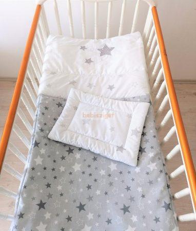 Szeko Stúdió - GreyStar Csillagfüzéres hímzéssel 2 részes gyermekágynemű garnitúra