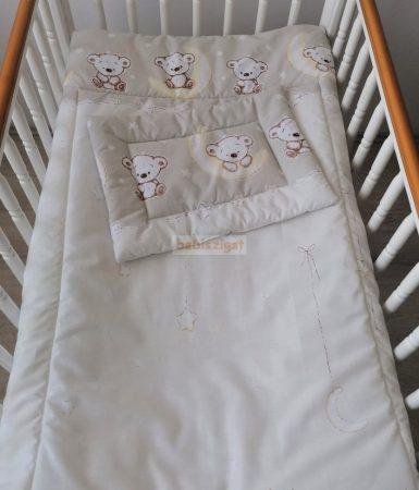 Szeko Stúdió - Holdas maci bézs 2 részes gyermekágynemű garnitúra