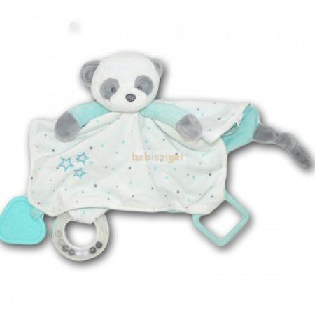 Tulilo Plüss Szundikendő Panda Menta csörgővel