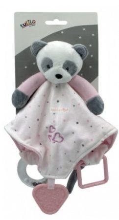 Tulilo Plüss Szundikendő Panda Rózsaszín csörgővel