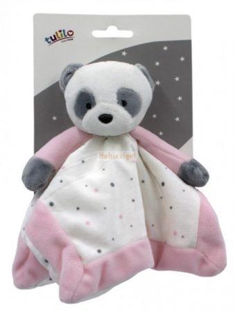 Tulilo Plüss Szundikendő Panda Rózsaszín