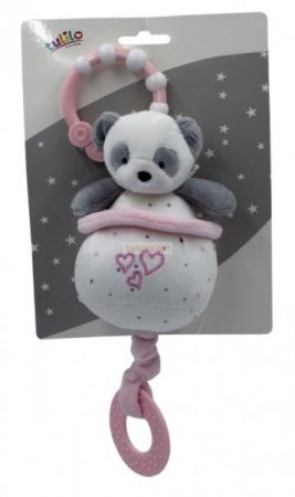 Tulilo Felhúzható-Zenélő Plüss Panda Rózsaszín